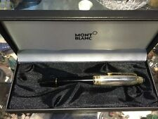 MONTBLANC MEISTERSTUCK SOLITAIRE 1461 SOLID SILVER Cap Fountain Pen F