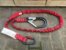 safety harness shock absorbing lanyard