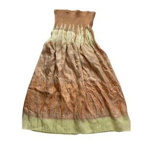 Lapis Convertible Bubble Hem Elastic Waist Long MIDI Skirt One Size