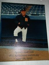 Sparky Anderson Retirement Canvas Giveaway Comerica Park SGA 2011 Tigers Reds