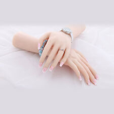 1 Pair Soft Silicone Lifesize Female Hand Fingers Mannequin Display Pose-able