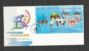 Hong Kong FDC, 1997 Paralympic games MS SG MS 898