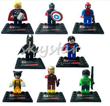 8Pcs Marvel Avengers Super Heroes Mini figures Building Blocks Toy Set