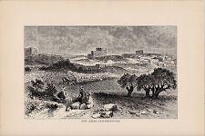 Beit Jibrin - Eleutheropolis. Rare Antique Print. 1881.