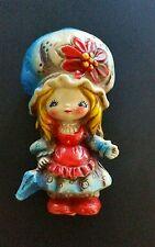 VTG HOLLY HOBBIE STRAWBERRY SHORTCAKE Doll BONNET GIRL FIGURINE ORNAMENT JAPAN