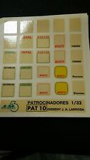 "DECAL CALCA 1/32 SLOT JUEGO DE LOGOS SET ""PLACAS PLATES RALLY"" JAL43 (PAT 10)"