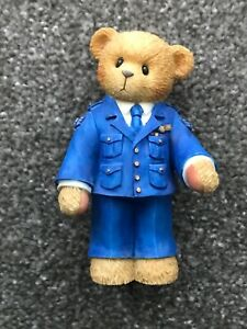 Cherished Teddies 742988 collectable figurine AIR FORCE The Sky's The Limit bear