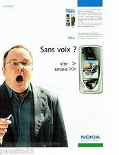 PUBLICITE ADVERTISING 116  2002  Nokia 7650   téléphone mobile *