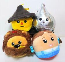 Wizard Of Oz Hallmark Fluffballs Set Of 4 Lion Scarecrow Tin-Man Dorothy All NWT