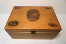 "Large Scottish Mauchline ware ""Shanklin Chine 