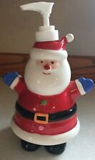 Santa Claus Ceramic Soap Lotion Dispenser Christmas - EUC, Fast Shipping