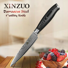 XINZUO Damascus kitchen knife 5 inch utility knife  fruit knife homely tools