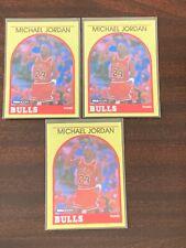 Michael Jordan 1990 NBA Hoops lot x3 RARE 'yellow' 89-90 #12 NM sharp corners