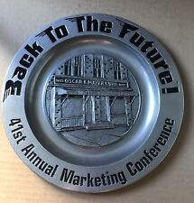 Oscar Mayer 41st Annual Marketing Conference Pewter Metal Plate Back To The Futu