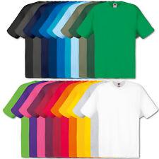 5er Fruit of the Loom Herren T-Shirt Shirt Original Tshirt Set Bunt Mix S - 5XL