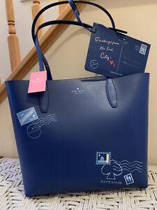 Kate Spade Arch Reversible Off The Grid Bon Voyage Large tote Wristlet Bag NWT