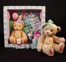 Cherished Teddies BIRTHDAY WALL/SHELF SHADOWBOX & JACKI BEAR HUGS 662410, 950432