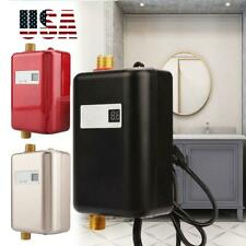 110V Mini Instant Electric Tankless Hot Water Heater Shower Kitchen Bathroom USA