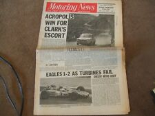 Motoring News 6 June 1968 Acropolis Rally Indy 500 Chimay  Rindt Crystal Palace