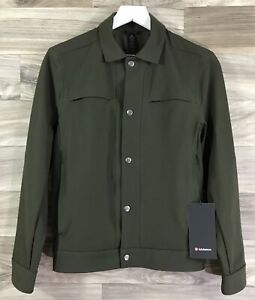 Lululemon City Excursion Jacket 4 Way Stretch Size XS Dark Olive DKOV 00012