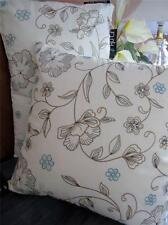 Cushion Cover + Insert: White Embroidered Floral Decorate Sofa Bolster Bed Throw