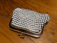 Vintage Glomesh Coin Purse Cream Made In Australia Collectable
