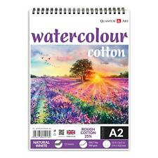 Watercolour Artist Pad on Spiral - Rough 25% COTTON - Natural White - 300gsm