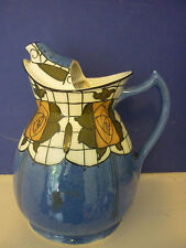 """WOOD And Sons OLD BLU CON Yellow Roses """"Cozy"""" Tea Pot Caraffa"""