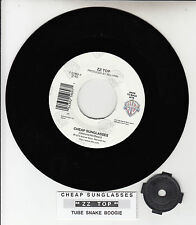 "ZZ TOP Cheap Sunglasses Tube Snake Boogie 7"" 45 rpm record NEW + juke box strip"