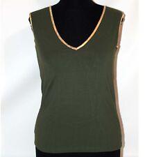 Prima Classe maglia verde mappa t shirt canotta smanicata Alviero Martini M L XL