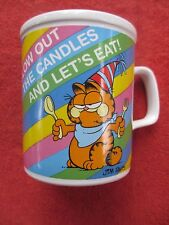 "Garfield Coffee Mug - ""BLOW OUT THE CANDLES AND LET'S EAT"" (1978)"