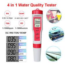 4 in 1 LCD Professional Portable Water Tester TDS/EC/PH/TEMP Monitor Meter Pen