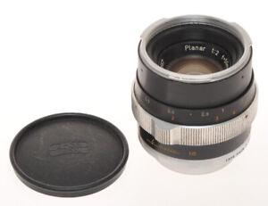 Carl Zeiss standard lens 50mm F:2 50/2 Planar black Contarex, exc++