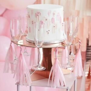 Rose Gold Treat and Drink Stand | Prosecco Wall Birthday Cake Party Decorations