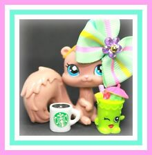 ❤️Authentic Littlest Pet Shop LPS #1538 Blind Bag Toffee Squirrel Starbucks❤️