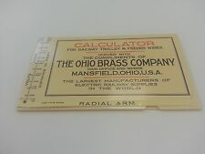 Railway Trolley & Feeder Wire Calculator - The Ohio Brass Co - Includes 2 items