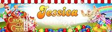 Personalized Candy Crush Sage Name Painting Poster Glossy Custom Banner
