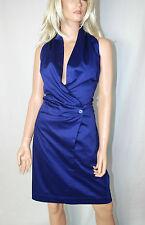 CORA kemperman Designer vestito con laccio intorno al collo vestito tg L BLU %%%