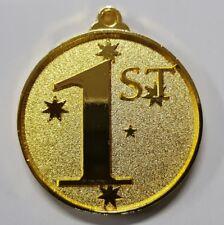 1st Place 3D embossed 50mm Diameter Medal Inc Neck Ribbon / Engraving