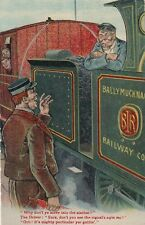 """RAILWAY : """" Why don't yer move into the station?...."""". =VALENTINE'S"""