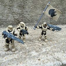 Halo Mega Bloks Set #CNK25 UNSC Fireteam Rhino Figure #1 & 2 & 3 With Flag!!