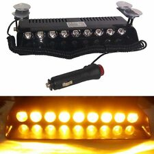 9 LED Car Dash Board Emergency Strobe Flashing Light Hazard Warning Amber light