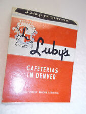Matchbook Luby's Cafeteria Denver Finest Family Dining