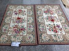 3' X 5'Elegant Beautiful Victorian Blooming Rose Ivory Handmade Needlepoint Rug