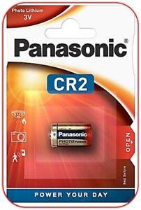 4 x Panasonic CR2 DL2 3V Lithium Power Photo Batterien Blister Neu & OVP