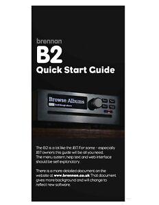 Brennan B2  Manual - Operating Instructions