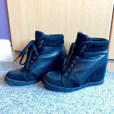 Black Trainer Wedges - size 5/6