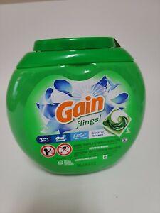 Gain flings! Liquid Laundry Detergent Pacs, oxi boost Blissful Breeze, 42 count