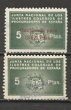 5173-2 SELLOS FISCALES CORPORATIVOS JUNTA NACIONAL DEILUSTRES COLEGIOS DE PROCUR