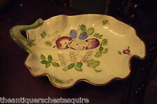 """Mottahedeh Tobacco Leaf /Candy Dish Leaf, hand painted,2"""" tall by 10 1/4""""[4-58]"""